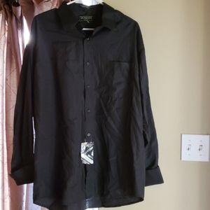 Black Polyester Blend Dress Shirt